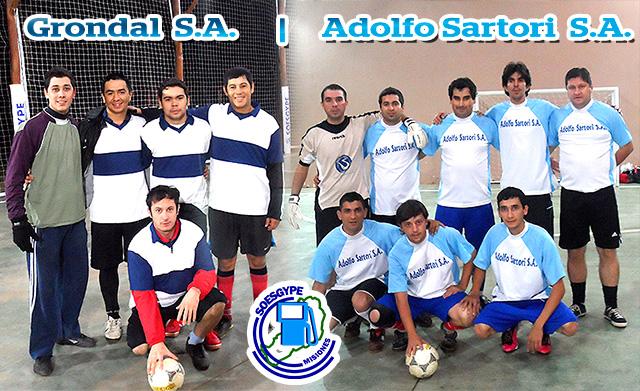 Equipos que animarán la final del Campeonato de Futbol 5 de los Estacioneros de Posadas, desarrollado en el Complejo Guaviyú