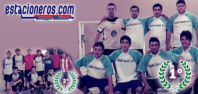 Los equipos protagonistas de la final: el campeón Adolfo Sartori y Grondal.