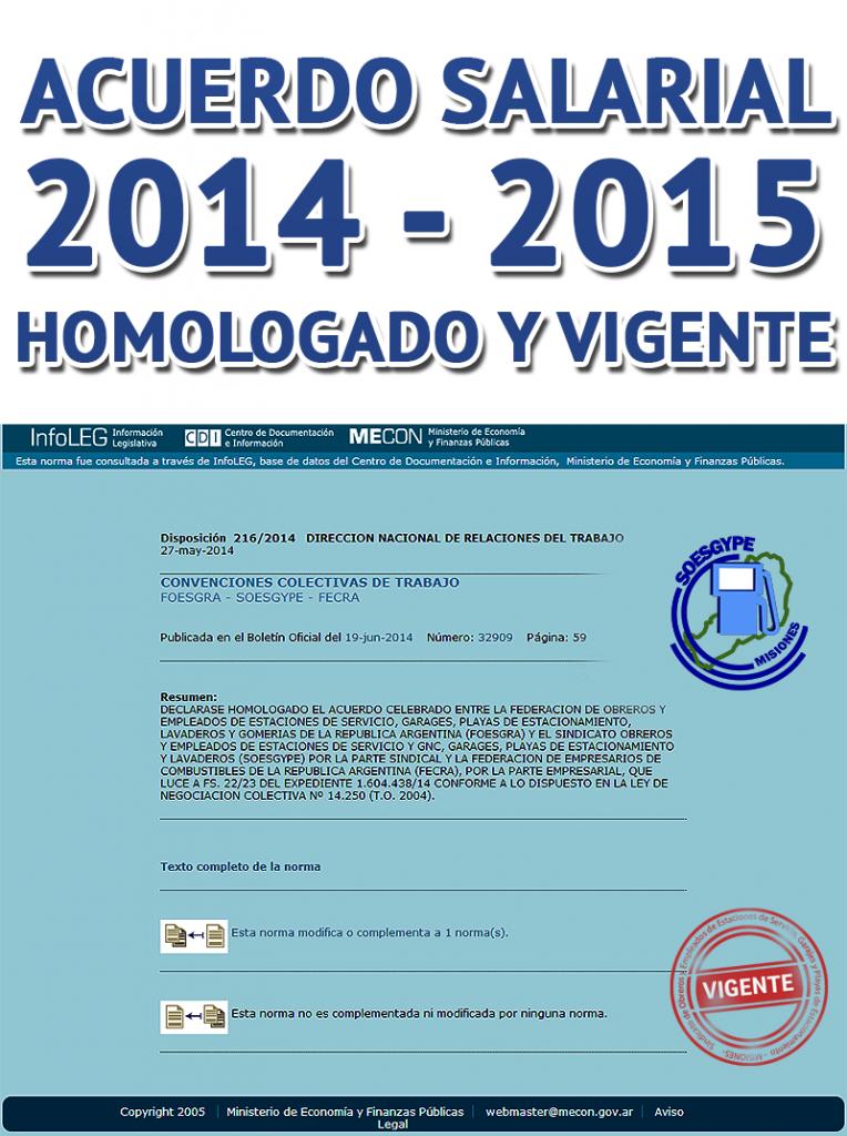 Aumento salarial trabajadores SOESGyPE Misiones homologado y publicado en Boletin Oficial