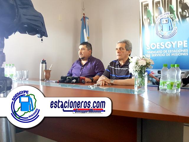 Carlos Acuña titular de FOESGRA y miembro de CGT vino a Misiones a pedir a estacioneros que voten a Sanabria